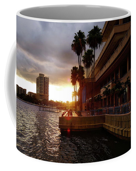 Tampa Coffee Mug featuring the photograph Tampa Bay Sunset by Drew Coffman