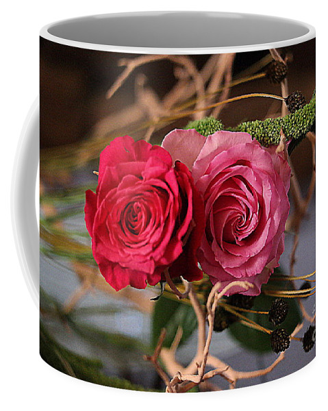 Flowers Photography Coffee Mug featuring the photograph Tangled On Driftwood by Diana Mary Sharpton