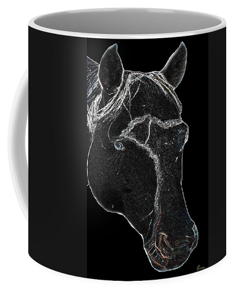 Paint Horse Stallion Black And White Colt Animal Farm Ranch Coffee Mug featuring the photograph Tango by Andrea Lawrence