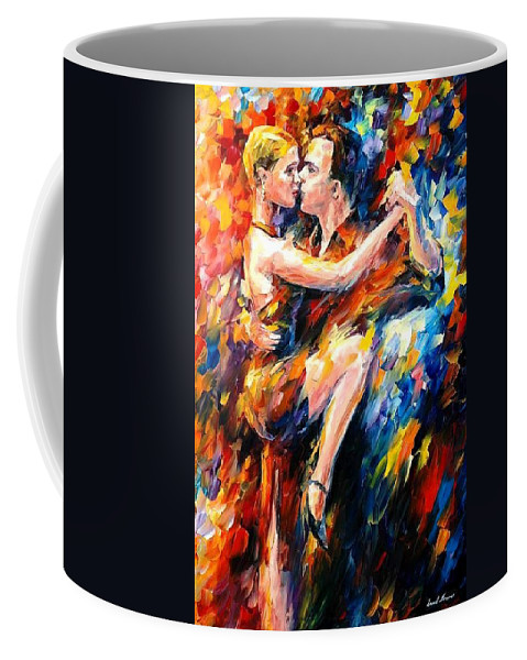 Dance Coffee Mug featuring the painting Tango Of Love  by Leonid Afremov