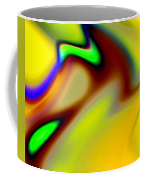Abstract Coffee Mug featuring the digital art Tango by Ruth Palmer