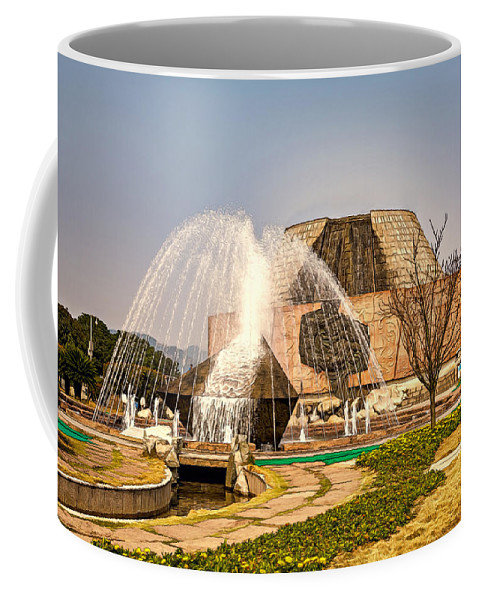 Beautiful Coffee Mug featuring the photograph Tanzi Ling Park by Maria Coulson