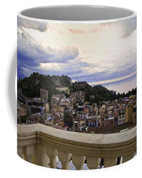 Taormina Coffee Mug featuring the photograph Taormina Balcony View 2 by Madeline Ellis