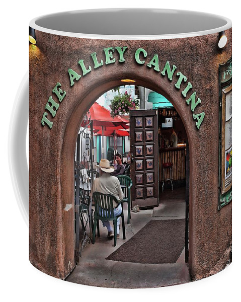Taos Coffee Mug featuring the photograph Taos Alley Cantina by Stephen Schwiesow