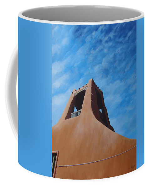 Taos Coffee Mug featuring the painting Taos Memory by Hunter Jay