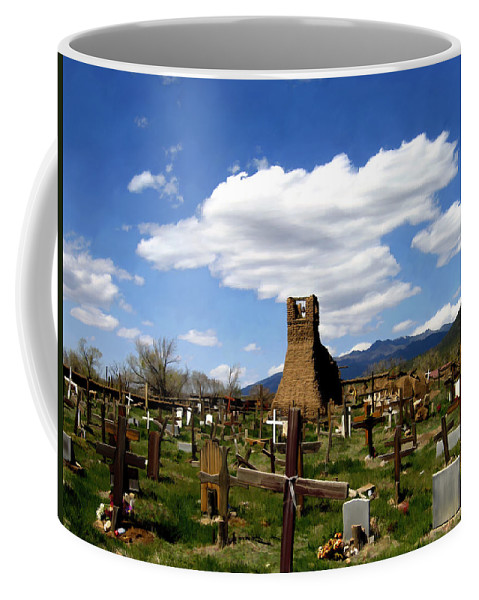 Taos Coffee Mug featuring the photograph Taos Pueblo Cemetery by Kurt Van Wagner