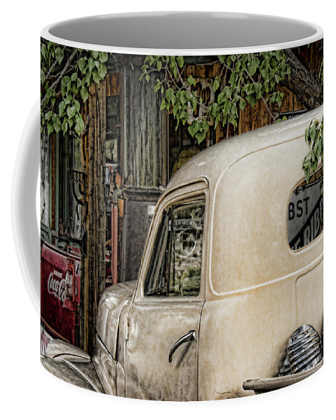 Taos Truck Coffee Mug featuring the photograph Taos Truck by Karen Seargeant