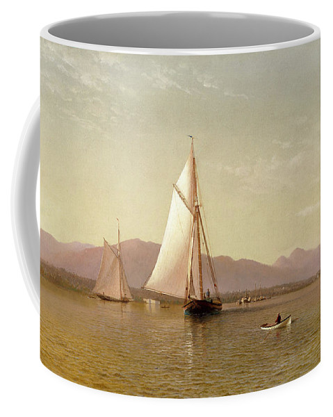 Francis Silva (1836-1886) Coffee Mug featuring the painting Tappan Zee by MotionAge Designs