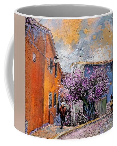Tarbena Paiting Coffee Mug featuring the painting Tarbena 01 by Miki De Goodaboom