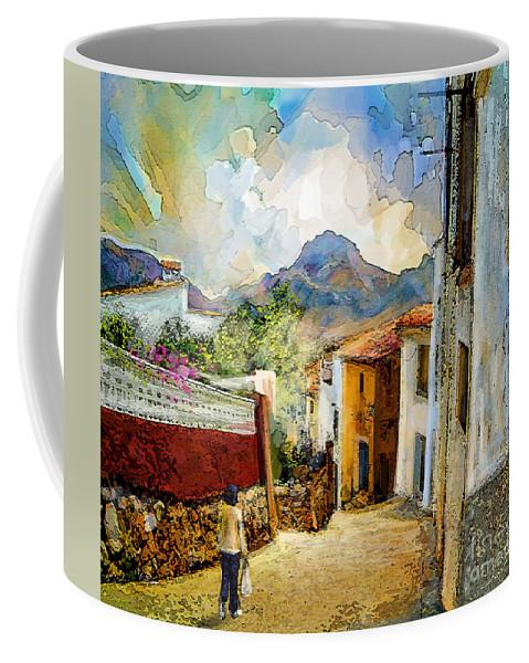 Tarbena Painting Coffee Mug featuring the painting Tarbena 03 by Miki De Goodaboom