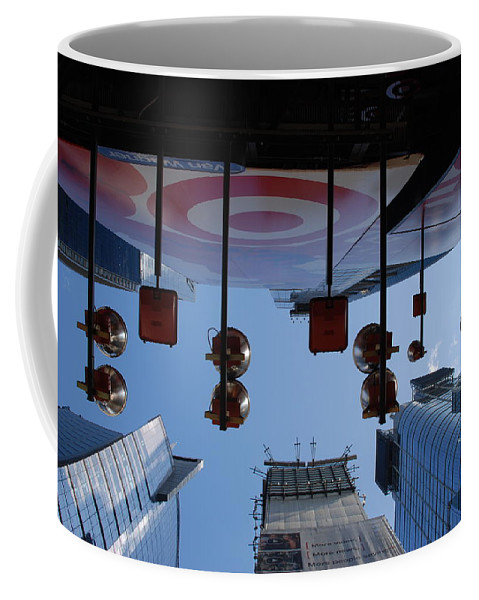 Architecture Coffee Mug featuring the photograph Target Lights by Rob Hans