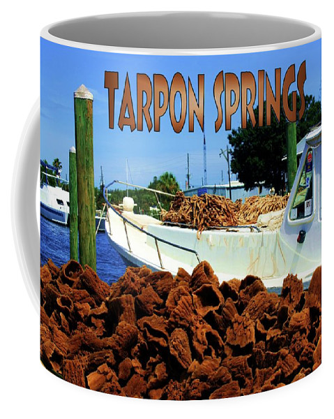 Postcard Coffee Mug featuring the photograph Tarpon Springs Postcard by Robert Wilder Jr