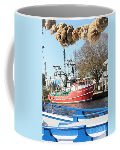 Tarpon Springs Coffee Mug featuring the photograph Tarpon Springs Shrimp Boat by Carol Groenen