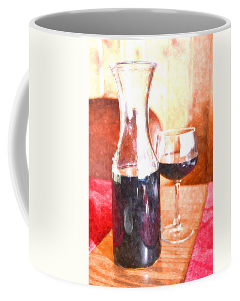 Grape Coffee Mug featuring the photograph Taste The Wine by Image Takers Photography LLC - Laura Morgan