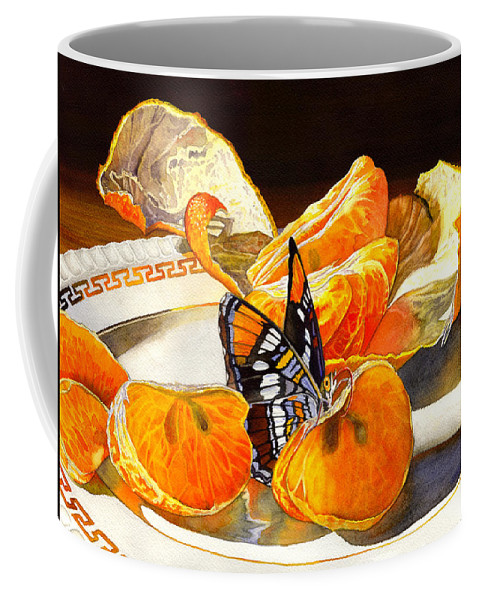 Butterfly Coffee Mug featuring the painting Tasty by Catherine G McElroy