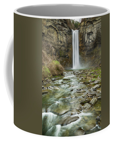 Taughannock Falls Coffee Mug featuring the photograph Taughannock Falls After The Thaw by Stephen Stookey