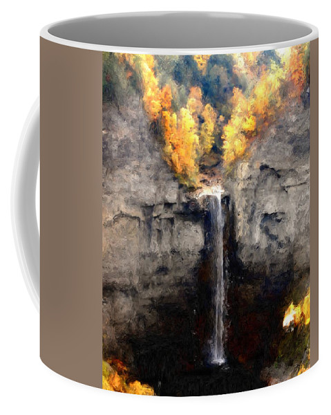 Taughannock Falls Coffee Mug featuring the photograph Taughannock Falls by David Lane