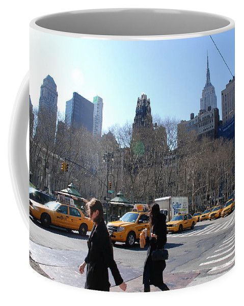 Taxi Coffee Mug featuring the photograph Taxi Anyone by Rob Hans