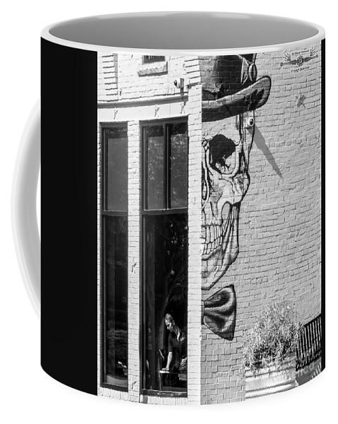 Skull Coffee Mug featuring the photograph Taxman Waitress by Joseph Yvon Cote