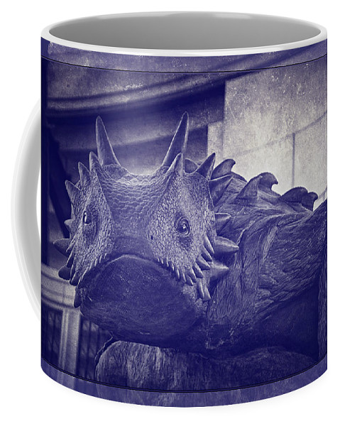 Joan Carroll Coffee Mug featuring the photograph Tcu Horned Frog Purple by Joan Carroll