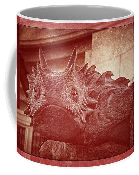 Joan Carroll Coffee Mug featuring the photograph Tcu Horned Frog Red by Joan Carroll