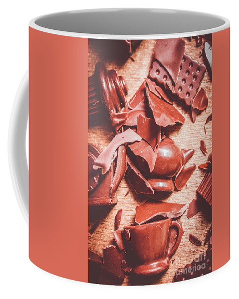 Chocolate Coffee Mug featuring the photograph Tea Break by Jorgo Photography - Wall Art Gallery