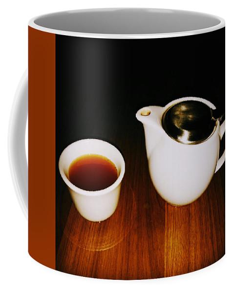 Tea Lovers Coffee Mug featuring the pyrography Tea-juana by Albab Ahmed
