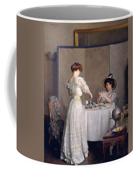 William Mcgregor Paxton Coffee Mug featuring the painting Tea Leaves by William McGregor Paxton