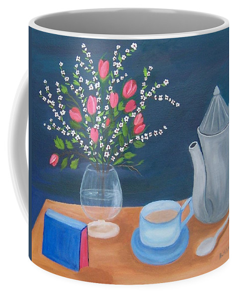 Still Life Coffee Mug featuring the painting Tea Time by Ruth Housley