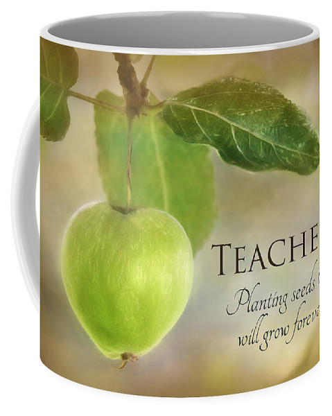 Apple Coffee Mug featuring the photograph Teachers by Lori Deiter