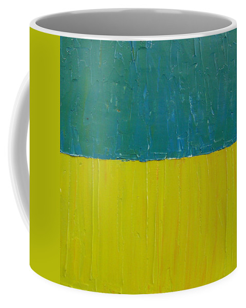 Paint Coffee Mug featuring the painting Teal Olive by Michelle Calkins