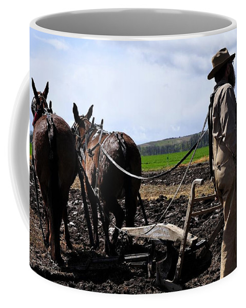 Or Coffee Mug featuring the photograph Team Of Three by Jerry Sodorff
