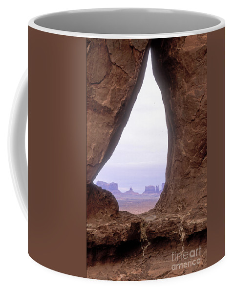 Monument Valley Coffee Mug featuring the photograph Teardrop Arch-monument Valley by Sandra Bronstein