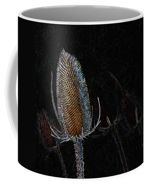 Teasel Coffee Mug featuring the photograph Teasel Glow by Bel Menpes