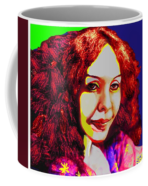 Pop Art Coffee Mug featuring the painting Technicolour Dreamer By Jorge Gomez by Rusty Gladdish