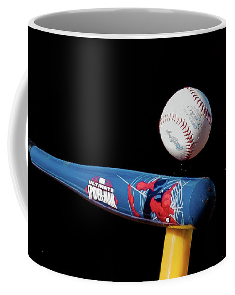 Baseball Coffee Mug featuring the photograph Tee Ball by Jim Cole