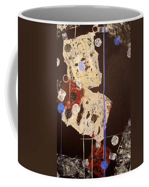 Abstract Coffee Mug featuring the painting Teeter by Ruth Palmer