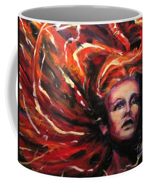 Bright Coffee Mug featuring the painting Tempest by Jason Reinhardt
