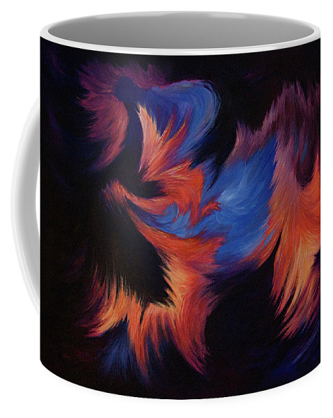 Abstract Coffee Mug featuring the painting Tempest by Rachel Christine Nowicki