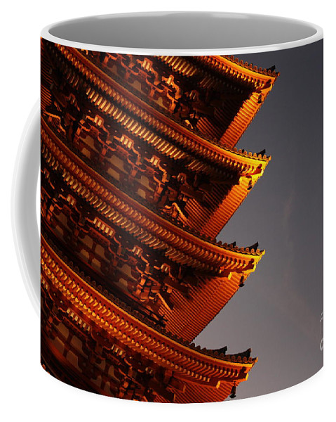 Temple Coffee Mug featuring the photograph Temple Lights by Carol Groenen