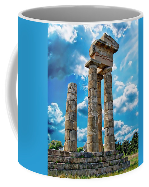 Stone Coffee Mug featuring the photograph Temple Of Apollon by Anthony Dezenzio