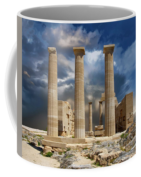 Greece Coffee Mug featuring the photograph Temple Of Athena by Anthony Dezenzio
