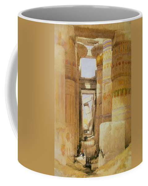 Egypt Coffee Mug featuring the digital art Temple Of Karnak 2 by Roy Pedersen