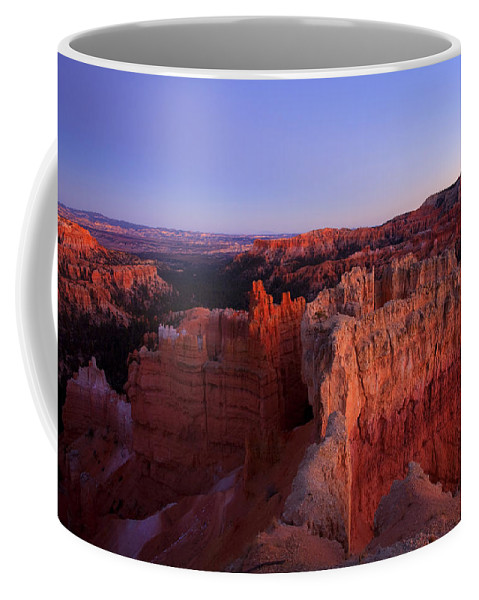 Hoodoo Coffee Mug featuring the photograph Temple of the setting sun by Mike Dawson