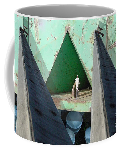 Abstract Coffee Mug featuring the digital art Temple by Ron Bissett