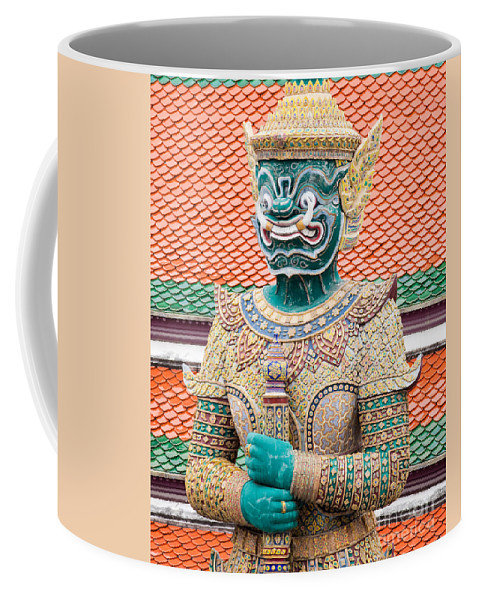 Artifact Coffee Mug featuring the photograph Temple Warrior by Anthony Totah