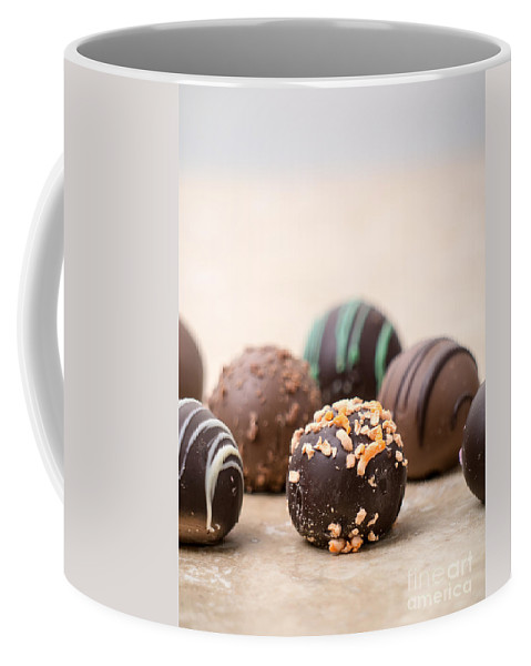 Candy Buffet Sweet Sweets Candies Dessert Desserts Table Display Temptation Tempting Coffee Mug featuring the photograph Temptation by Edward Fielding