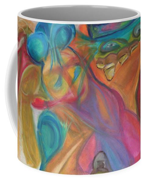 Coffee Mug featuring the pastel Temptation by Sitara Bruns
