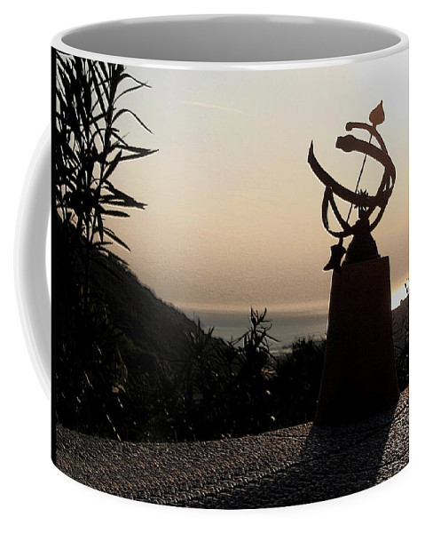 Sun Set Coffee Mug featuring the photograph tempus fugit II by Dragica Micki Fortuna
