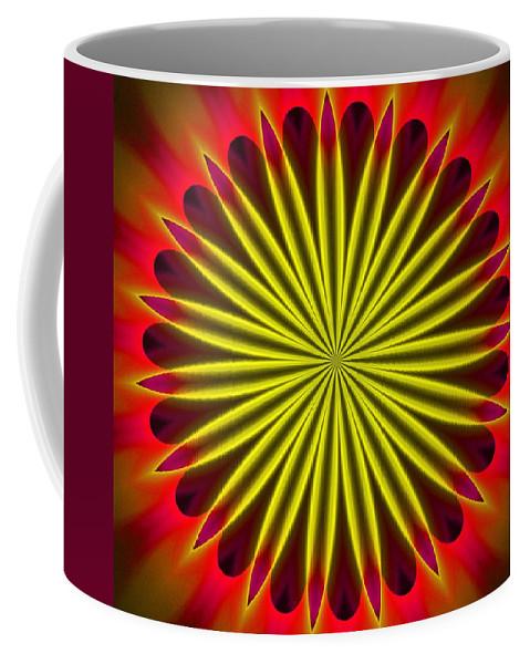 Fine Art Coffee Mug featuring the digital art Ten Minute Art 102610c by David Lane